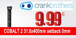 CRANK BROTHERS Seatpost COBALT 2 31.6x400mm setback 0mm Black/Black (CRA-P-COB2-C14-31400)